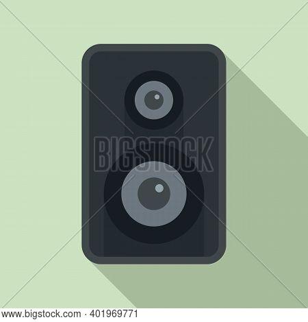 Acoustic Speaker Icon. Flat Illustration Of Acoustic Speaker Vector Icon For Web Design