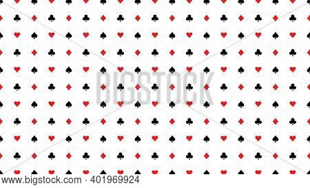 Card Suits Background Cover. Seamless Pattern. Poker Suits