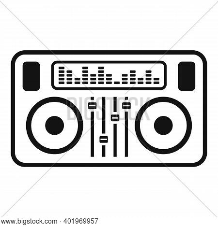 Dj Deck Icon. Simple Illustration Of Dj Deck Vector Icon For Web Design Isolated On White Background