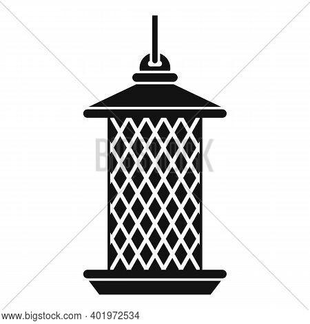 Cylinder Bird Feeders Icon. Simple Illustration Of Cylinder Bird Feeders Vector Icon For Web Design