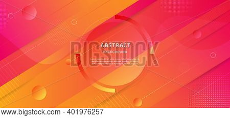 Abstract Geometric Background. Wave Liquid With Stripe Lines. Background Diagonal Yellow, Orange And