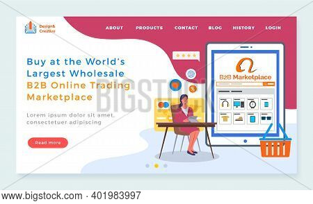 Landing Page Of Website. Buy At World S Largest Wholesale B2b Online Trading Marketplace. Online Sho