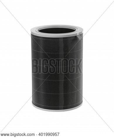 Three-layer Activated Carbon Hepa Filter For Removing Formaldehyde, Pm2.5, Odors, Dust, Isolated On