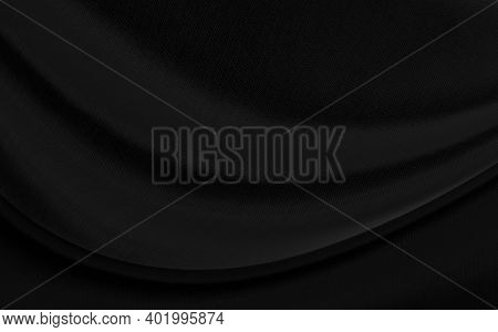 Black Gray Satin Dark Fabric Texture Luxurious Shiny That Is Abstract Silk Cloth Background With Pat