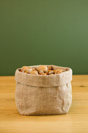Hessian Sack Full Of Nuts