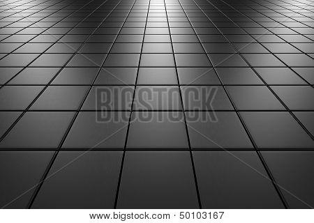 Steel Tiles Flooring Perspective View