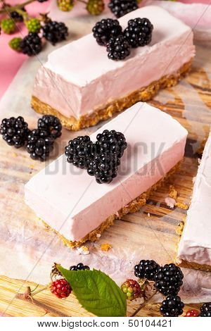 Frozen Blackberry Cheesecake