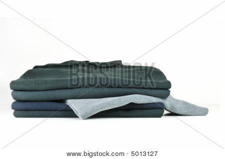 Stack Of Black T-shirts