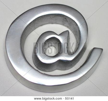 Cast Metal '@' Symbol