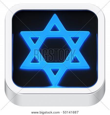 Star of David Luminous Icon