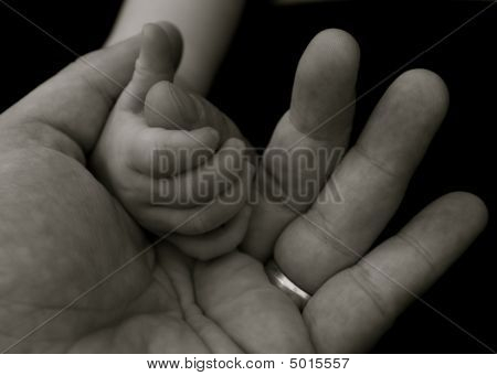 Babys Grip On Fathers Hand
