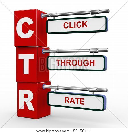 3D Modern Signboard Of Ctr