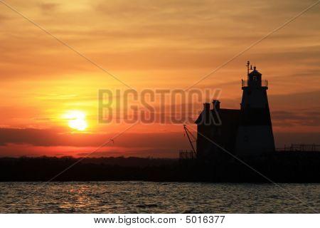 Sunset And Execution Rocks Lighthouse