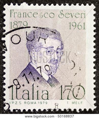 Italien - ca. 1979: eine Briefmarke gedruckt in Italien feiert Francesco Severi (1879 – 1961), berühmte Itali