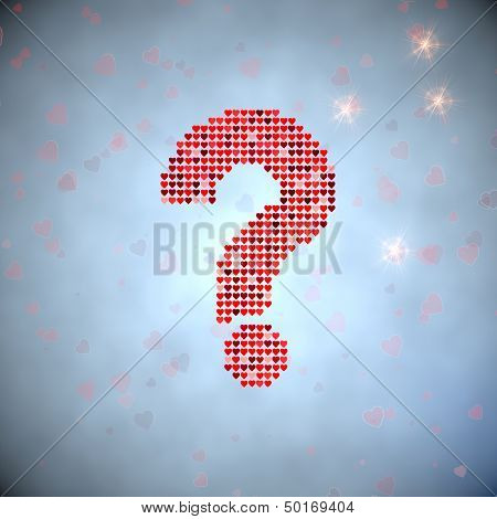 Illustration Of A Unclear Question Symbol Of Thousand Hearts