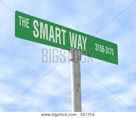 a photo of a themed sign, the smart way poster