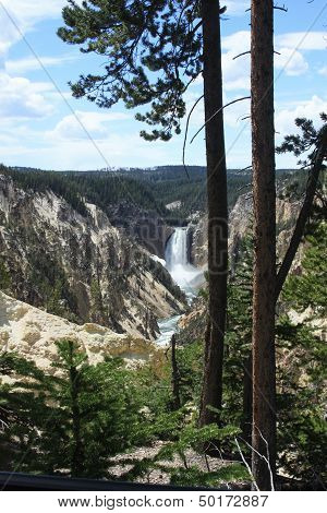 Yellowstone Lower Falls panorama 5
