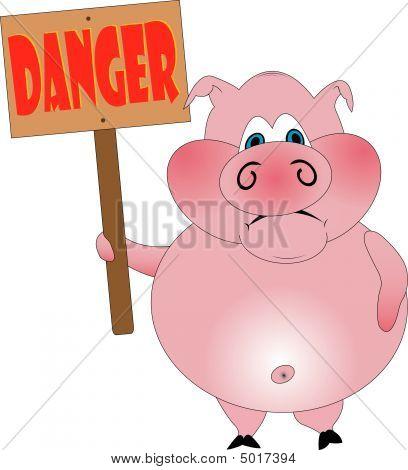 Swine Flu. Vector illustration for you design poster