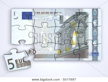 5 Euro Note Puzzle  Top View
