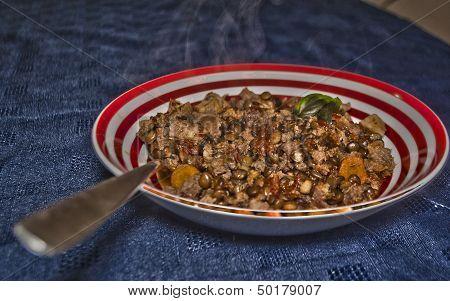 Appetizing Hot Lentils