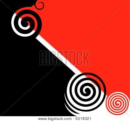 Abstract graphic design. Red and black. Vector illustration.. poster