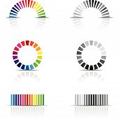 vector illustration of colour profile samples cmyk rgb poster