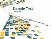 abstract mosaic vector composition with sample text background poster