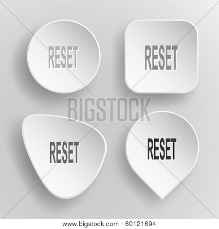 Reset. White flat raster buttons on gray background.