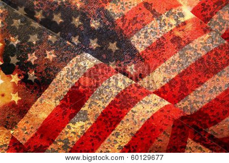 Distressed American Flag Vector