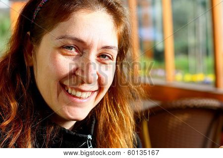 Turkish Women Smiling Under The Sun