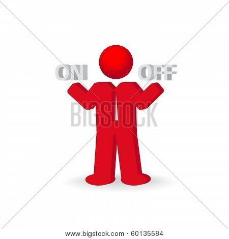 Busines Man, Person Presents