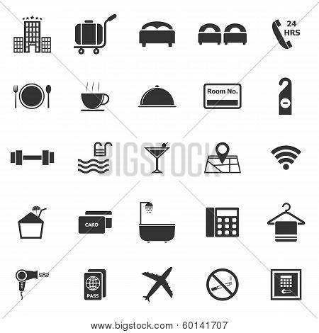 Hotel Icons On White Background