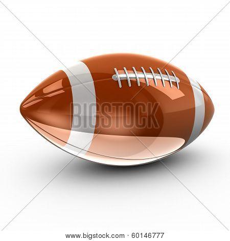 Shiny American football, 3d