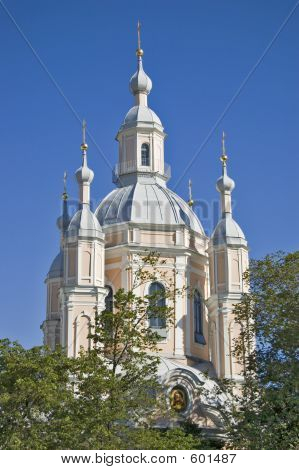 Orthodox Cathedral In St.-Petersburg.
