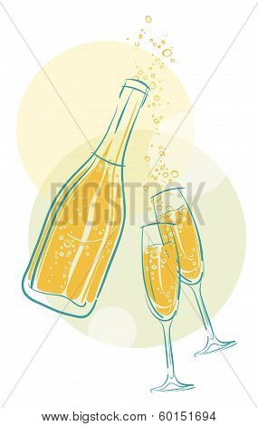 Vector Champagne