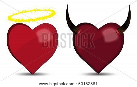 Heart Angel And Devil