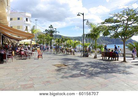 Beach promenade of Los Cristianos