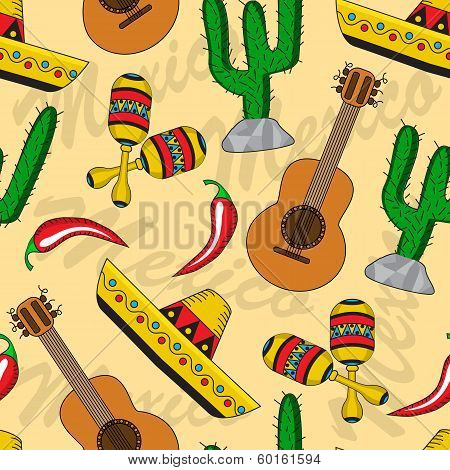 Mexican seamless background