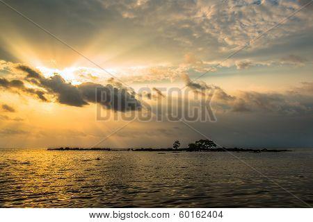 sun dawn seascape