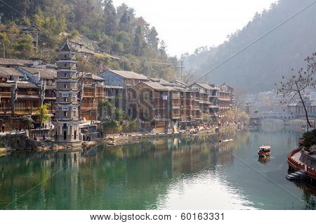 Fenghuang (Phoenix) ancient town Hunan province, China