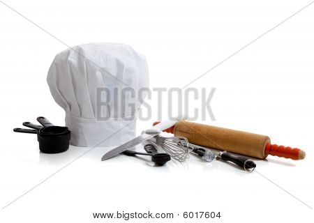 Baking Utensils With A Chef's Hat