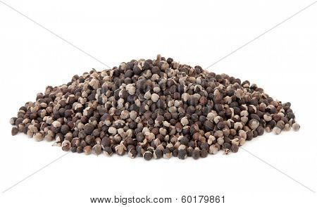 Vitex fruit used in chinese herbal medicine over white background. Man jing zi.