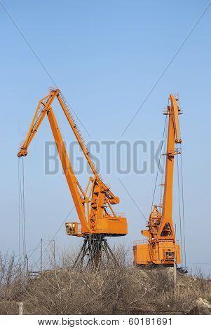 Industrial port cranes