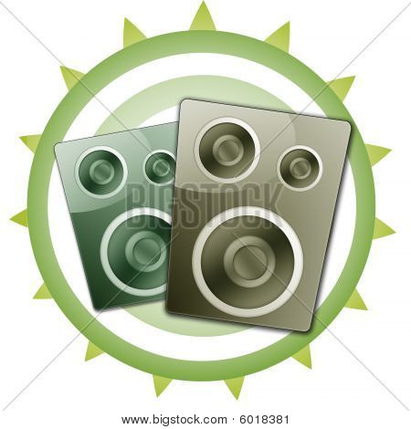 Speaker Set Illustration