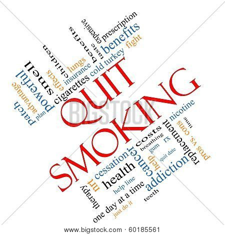 Quit Smoking Word Cloud Concept Angled