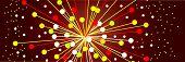 The abstract big bang at the strat of the universe poster