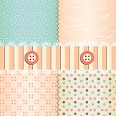 Shabby chic pastel patterns and seamless backgrounds. poster