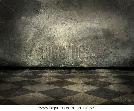 Grunge Interior With Copy-space