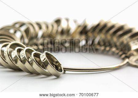 Chrome Jeweler Finger Sizing Tools.