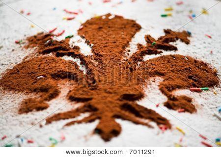 Italian Carnival Cake. Florentine Cake. Close up poster